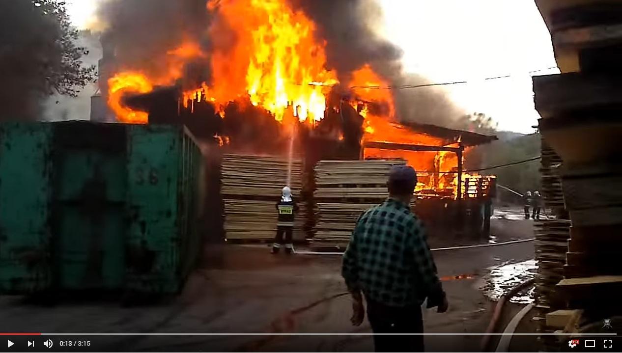 Pożar Tartaku Żabnica 2012r